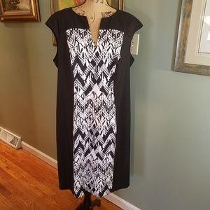Dress Barn V-neck front panel sheath dress